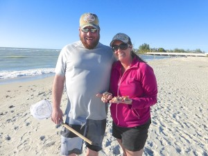lisa derek kansas visit sanibel for shelling shells