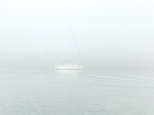 foggy sailboat captiva florida