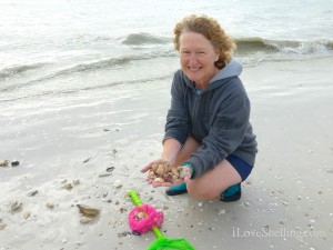 beth from ohio found beautiful shells on a visit to sanibel florida