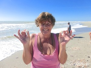 cathy found scotch bonnet shells on captiva island florida