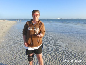 collecting seashells at sanibel lighthouse near causeway
