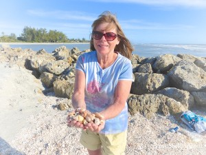faye finds shells at blind pass captiva