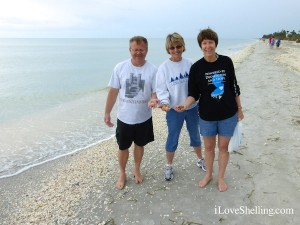harry joann collecting shells on sanibel island florida