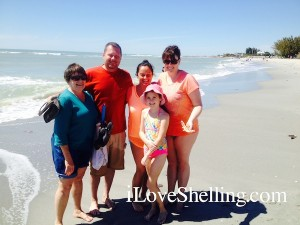 mary mike patti molly michelle from illinois shelling sanibel