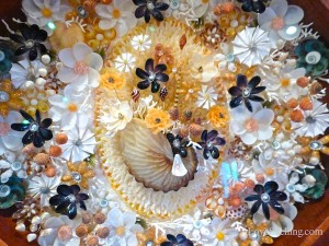 seashell craft flowers sanibel shell festival