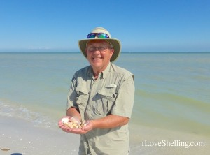 John finds seashells on Sanibel Shellabaloo