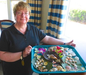 carol with her shell display