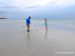 clark and hayley on the beach of sanibel