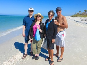 gary, roxanne, marge and gordon from Chicago visit Cayo Costa for shells