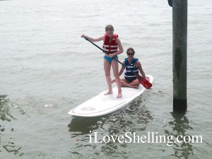 hayley lori on sup board