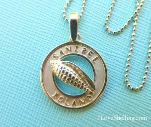 sanibel island junonia pendant