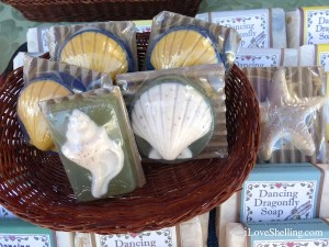 seashell shaped soap