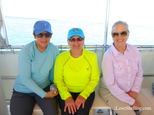shelling sisters on cruise to cayo costa