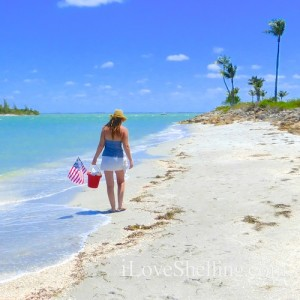 american girl beach combing