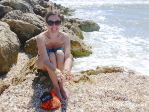heather surrounded with shells on Captiva
