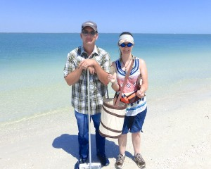 rachelle justin missouri vacation in florida for seashells