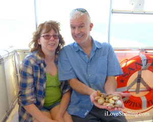 shaun kevin from Colorado on shelling vacation captiva cruise boat
