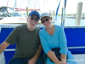 Barbara and Ted from Cape Coral on i Love Shelling cruise