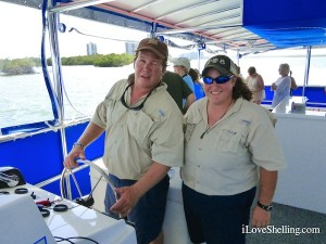 Captain Phil and Meg on Sight Sea-R Shelling Cruise
