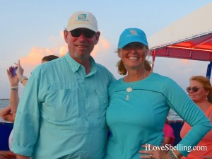 Clark and Pam Rambo on shelling cruise