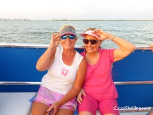 Debbie and Julie on shelling cruise