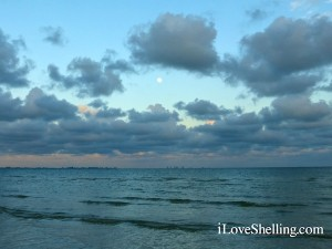 Sanibel full moon over Gulf of Mexico