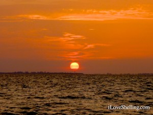Sunset over Sanibel lighthouse