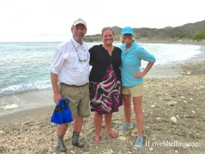 Clark, PAO Kelly Wirfel and Pam Rambo at Windmill Beach Guantanamo Bay, Cuba