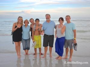 Hannah, Danielle, Emily, Tyler, Dave, Danielle, Jeff MO  Sanibel sunset