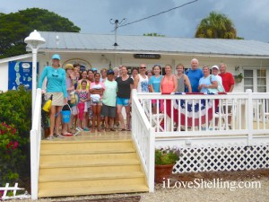 Pam Rambo with shelling group at Captiva Cruises