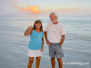 Sharon and Matt CT enjoy Sanibel shells