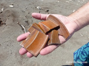 Spanish pottery fragments in Guantanamo Bay Cuba