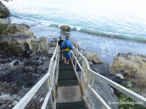 Stairs to glass beach gtmo cuba