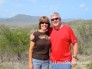 Susan and Lee Merrill overlooking Guantanamo Bay Cuba