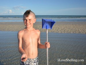 Theodore from Michigan visits Sanibel for shell hunting