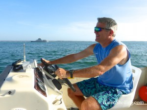 boating with Lee Merrill in Guantanamo Bay Cuba