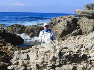 rock climbing by the sea of Guantanamo Bay Cuba