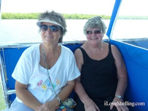 Cathy IL and Sue SBL on Fort Myers boat cruise