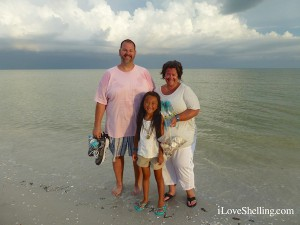 George, Lauren, Beth From Long Island visit Sanibel