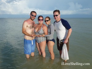 Josh, Heather, Tiffany, Brian find seashells on Sanibel Island Florida