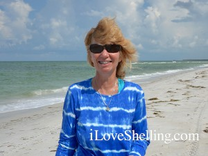 Judy B with shells from Cayo Costa