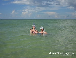 Lyndy with her Aunt Rhonda snorkeling in SW Florida