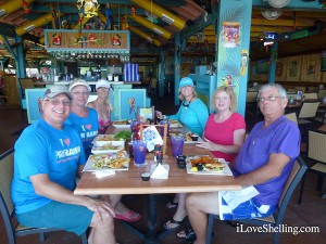 pam rambo with shellers at Parrot Key Caribbean Grill