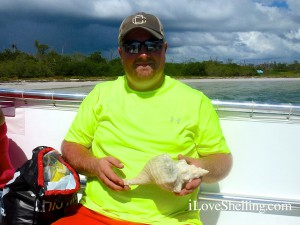 James Kentucky vacations in Sanibel finds big shell