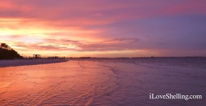 Purple Sky over Sanibel Pier