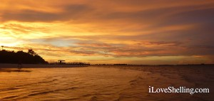 Yellow Sky over Sanibel Pier