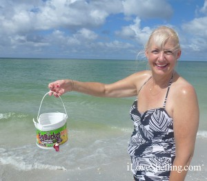 kathy from Tulsa with big bucket of shells