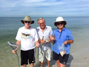 Don, Chuck, Marti from Libertyville find shells in Florida