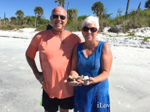 Jim and Annette find shells