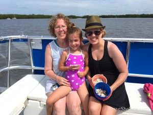 Linda Emma and Katie from MO visit Fort Myers shell cruise
